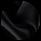 Зимний черный пуховик женский молодежный модель 25435