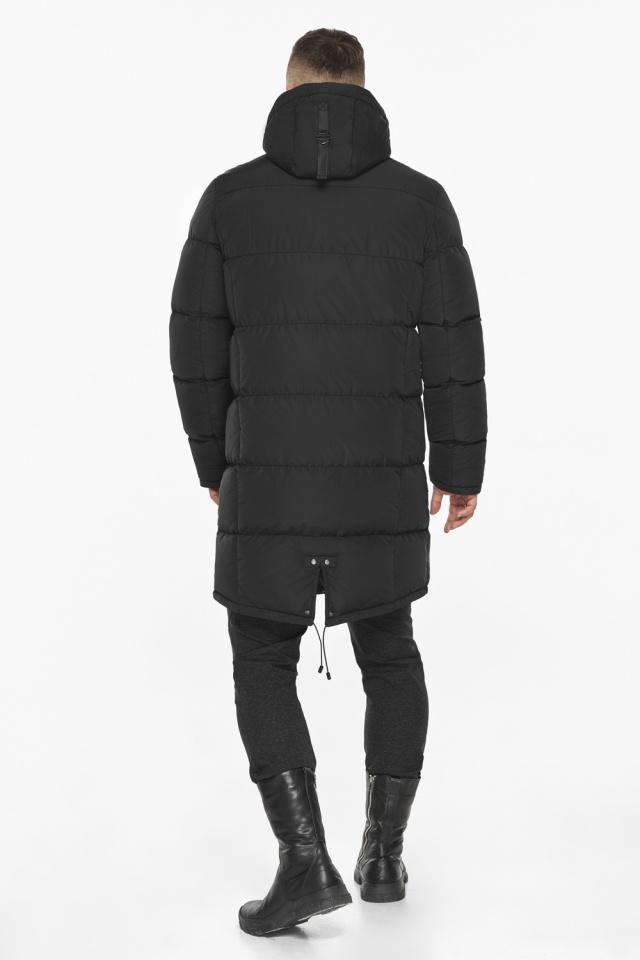 """Мужская чёрная куртка на зиму со съёмным капюшоном модель 49609 Braggart """"Dress Code"""" фото 8"""