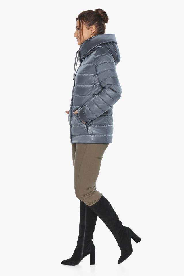"""Осенняя куртка с карманами женская цвет маренго модель 61030 Braggart """"Angel's Fluff"""" фото 7"""