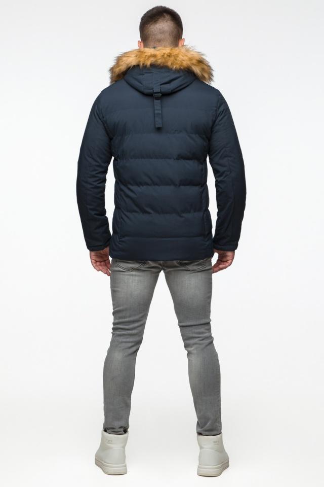 """Темно-синяя куртка зимняя мужская с ветрозащитным клапаном модель 25780 Braggart """"Youth"""" фото 7"""
