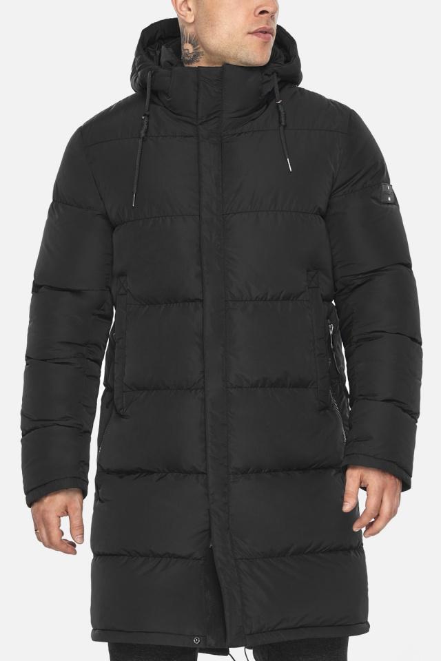 """Мужская чёрная куртка на зиму со съёмным капюшоном модель 49609 Braggart """"Dress Code"""" фото 10"""