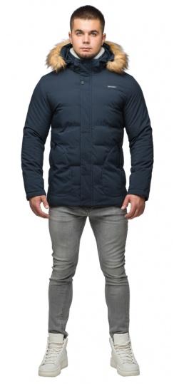 """Темно-синя куртка зимова чоловіча з вітрозахисним клапаном модель 25780 Braggart """"Youth"""" фото 1"""