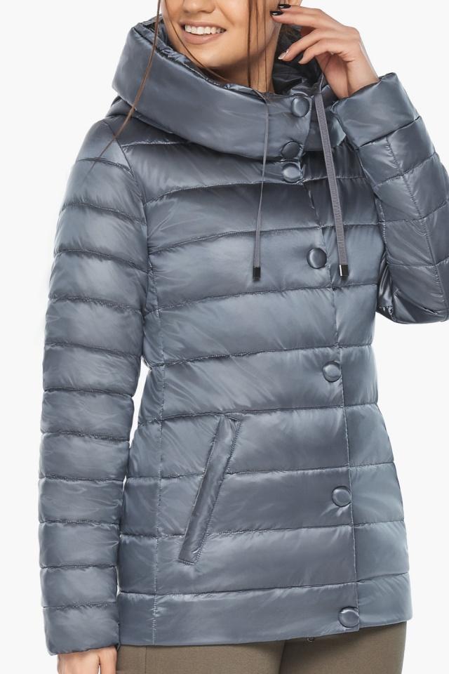 """Осенняя куртка с карманами женская цвет маренго модель 61030 Braggart """"Angel's Fluff"""" фото 9"""