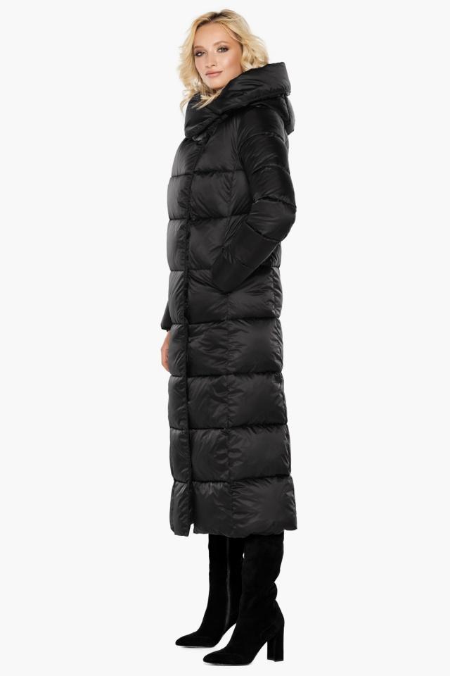 """Женская фирменная куртка чёрная модель 31056 Braggart """"Angel's Fluff"""" фото 3"""