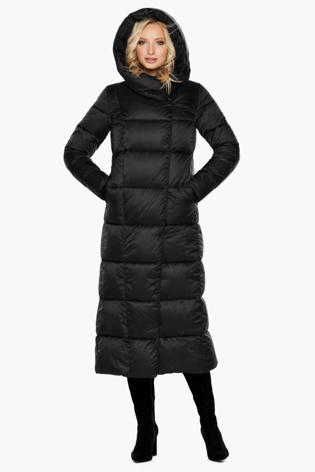 """Женская фирменная куртка чёрная модель 31056 Braggart """"Angel's Fluff"""" фото 4"""