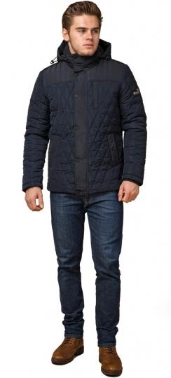 """Мужская зимняя куртка синего цвета короткая модель 30538 Braggart """"Dress Code"""" фото 1"""