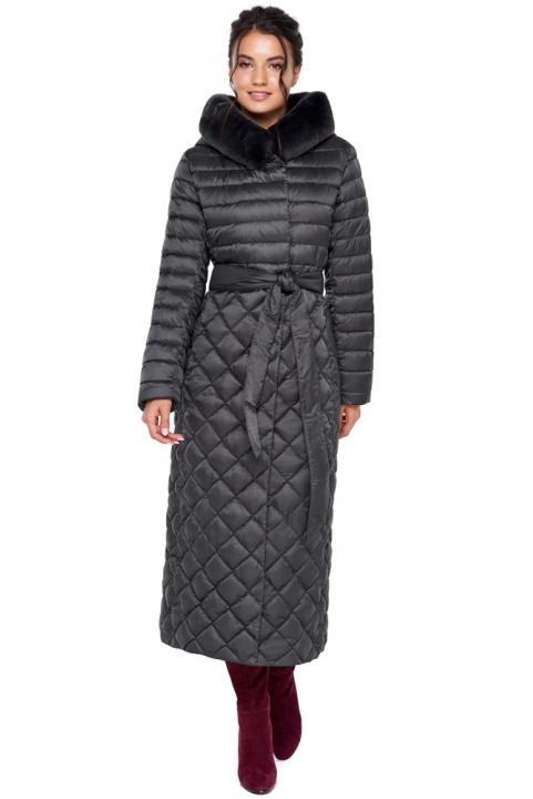 """Женская куртка графитовая на зиму модель 31012 Braggart """"Angel's Fluff"""" фото 1"""