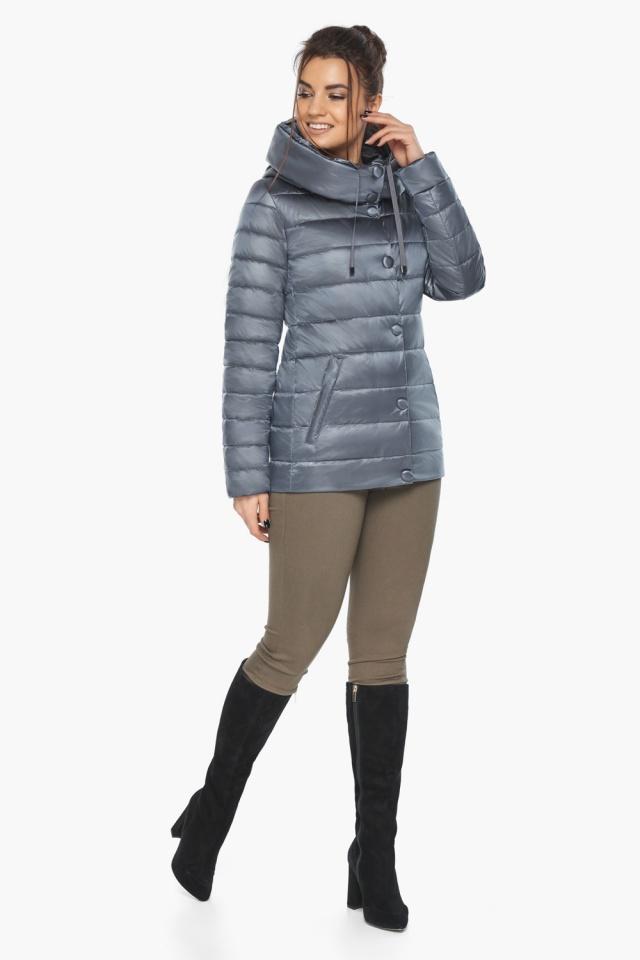 """Осенняя куртка с карманами женская цвет маренго модель 61030 Braggart """"Angel's Fluff"""" фото 5"""