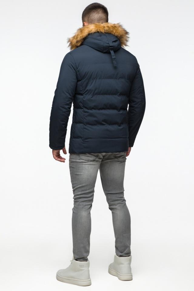 """Темно-синяя куртка зимняя мужская с ветрозащитным клапаном модель 25780 Braggart """"Youth"""" фото 6"""