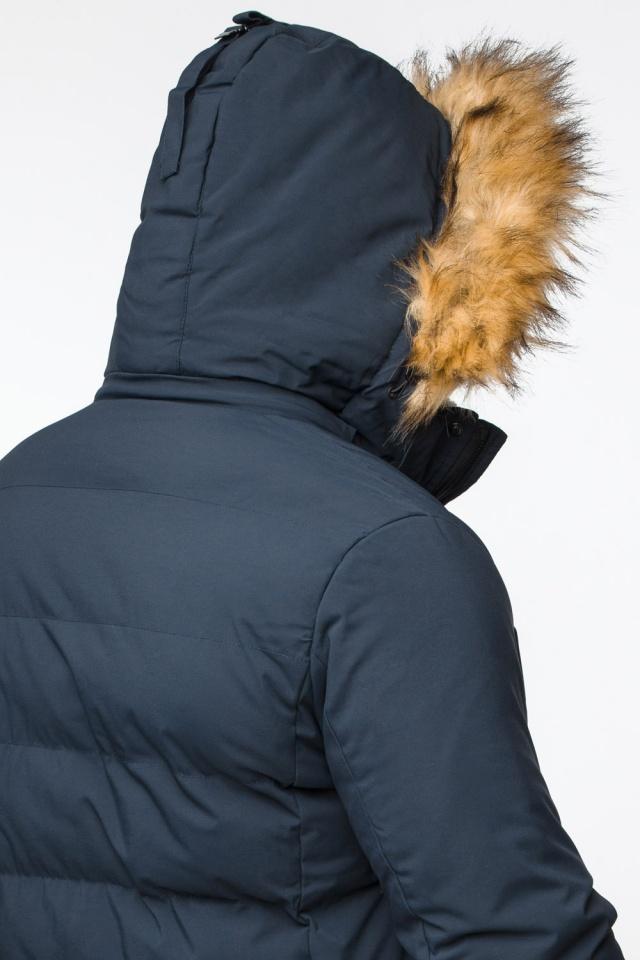 """Темно-синяя куртка зимняя мужская с ветрозащитным клапаном модель 25780 Braggart """"Youth"""" фото 10"""