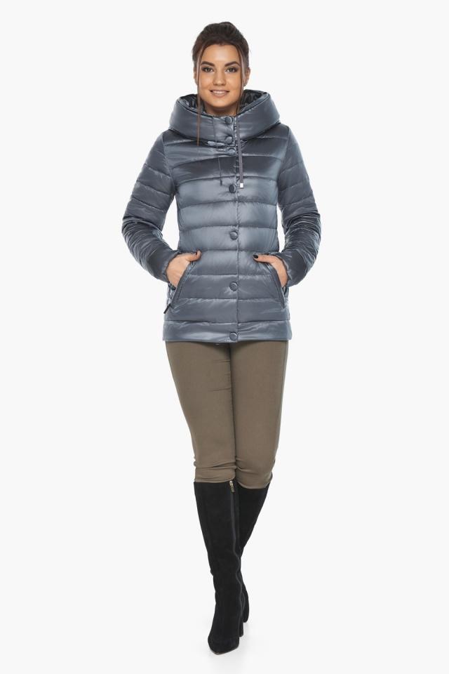 """Осенняя куртка с карманами женская цвет маренго модель 61030 Braggart """"Angel's Fluff"""" фото 2"""