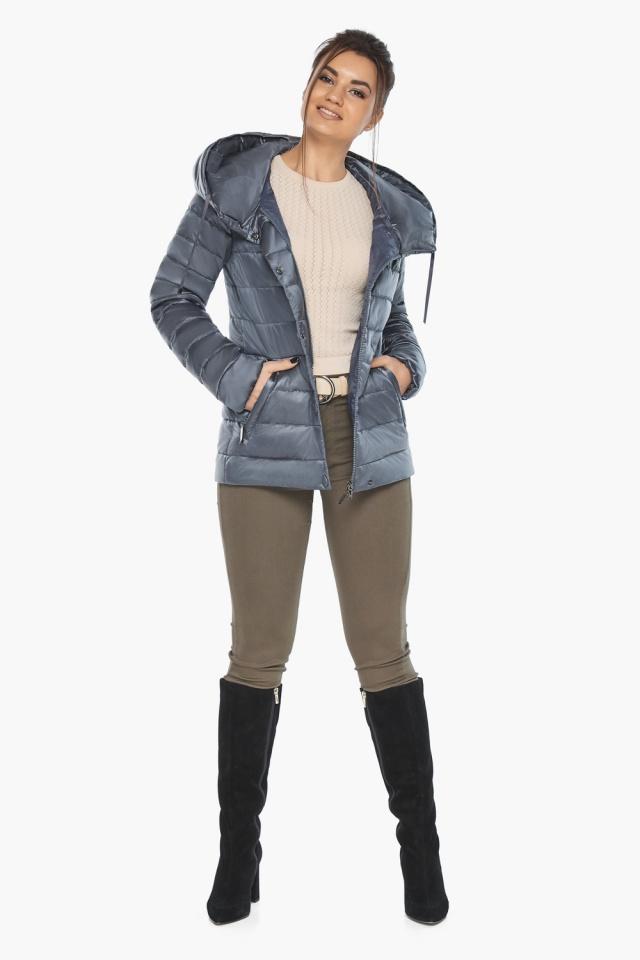 """Осенняя куртка с карманами женская цвет маренго модель 61030 Braggart """"Angel's Fluff"""" фото 4"""