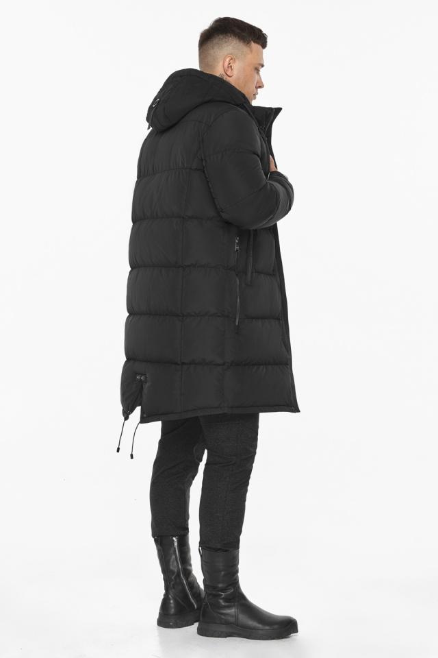 """Мужская чёрная куртка на зиму со съёмным капюшоном модель 49609 Braggart """"Dress Code"""" фото 9"""