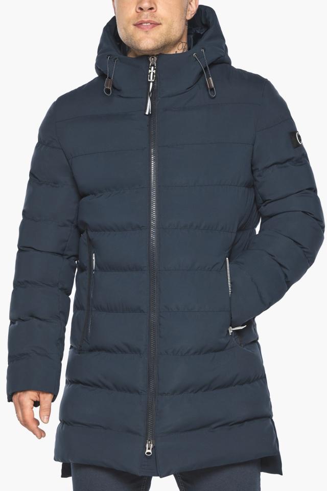 "Зимняя практичная куртка тёмно-синяя модель 49080 Braggart ""Aggressive"" фото 9"