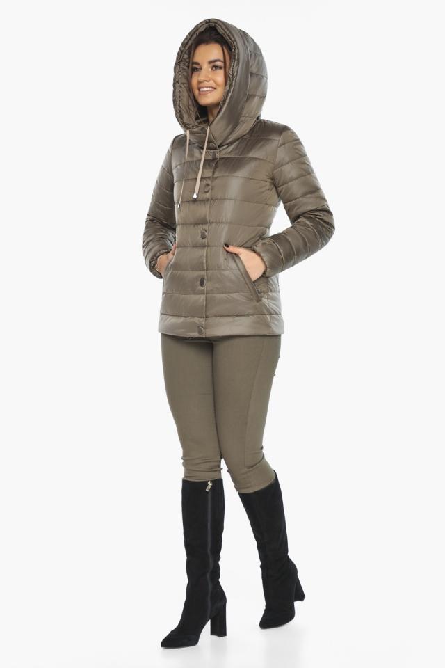 """Женская капучиновая куртка стильная осенне-весенняя модель 61030 Braggart """"Angel's Fluff"""" фото 6"""