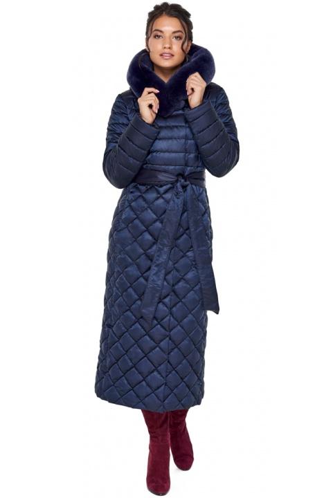 """Зимова синя куртка стильна жіноча модель 31012 Braggart """"Angel's Fluff"""" фото 1"""