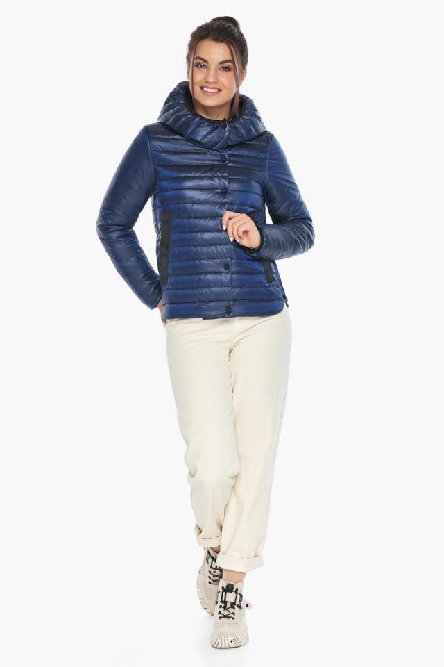 """Жіноча куртка сапфірова комфортна осінньо-весняна модель 64150 Braggart """"Angel's Fluff"""" фото 2"""