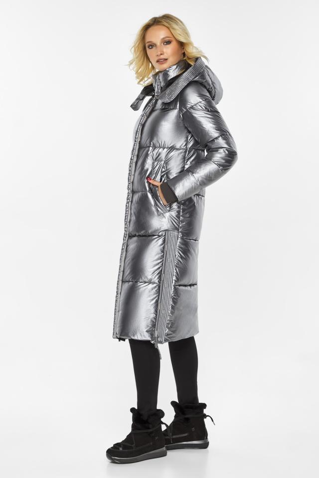 """Куртка с капюшоном женская цвет серебро модель 42650 Braggart """"Angel's Fluff"""" фото 5"""