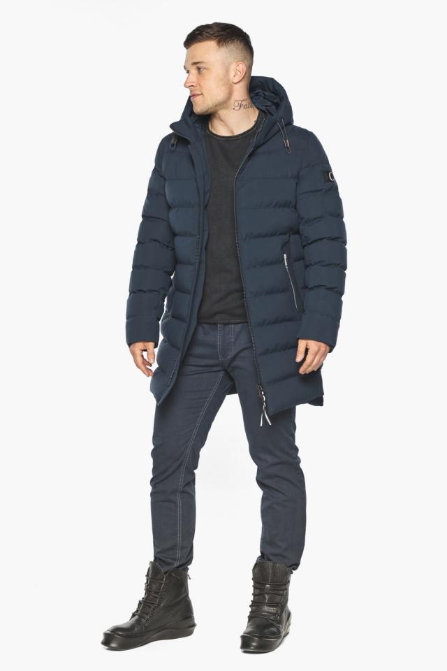 "Зимняя практичная куртка тёмно-синяя модель 49080 Braggart ""Aggressive"" фото 3"