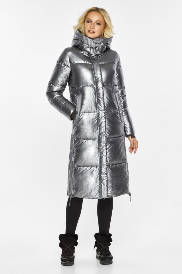 """Куртка с капюшоном женская цвет серебро модель 42650 Braggart """"Angel's Fluff"""" фото 2"""