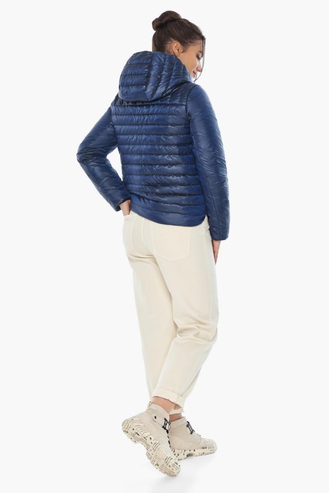 """Жіноча куртка сапфірова комфортна осінньо-весняна модель 64150 Braggart """"Angel's Fluff"""" фото 5"""
