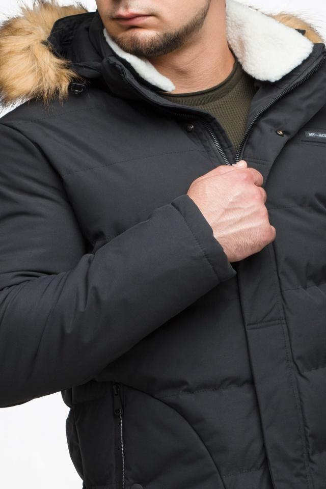 "Черная куртка зимняя мужская с карманами модель 25780 Braggart ""Youth"" фото 8"