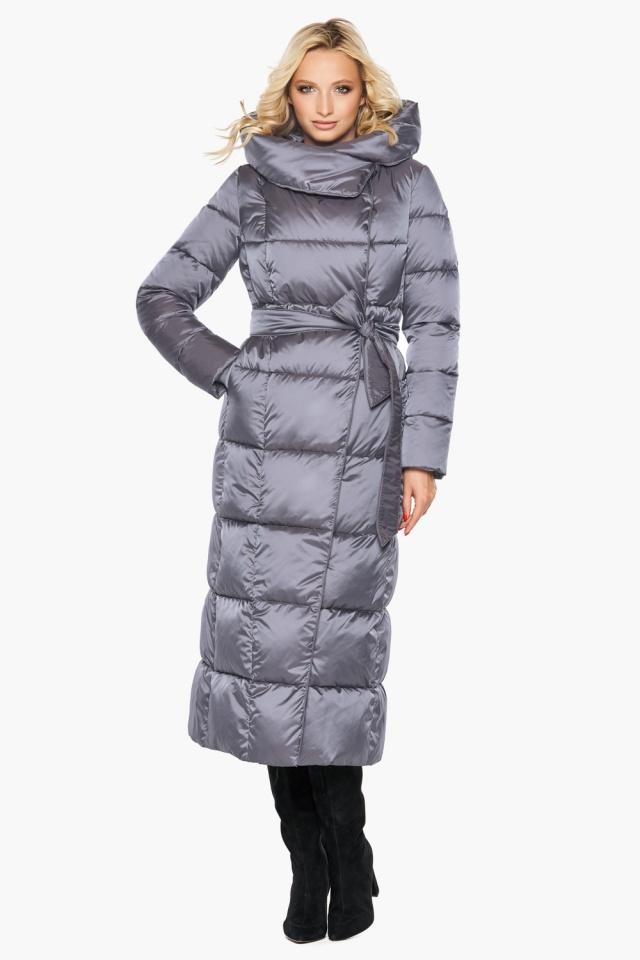 """Комфортная куртка жемчужно-серая женская модель 31056 Braggart """"Angel's Fluff"""" фото 3"""