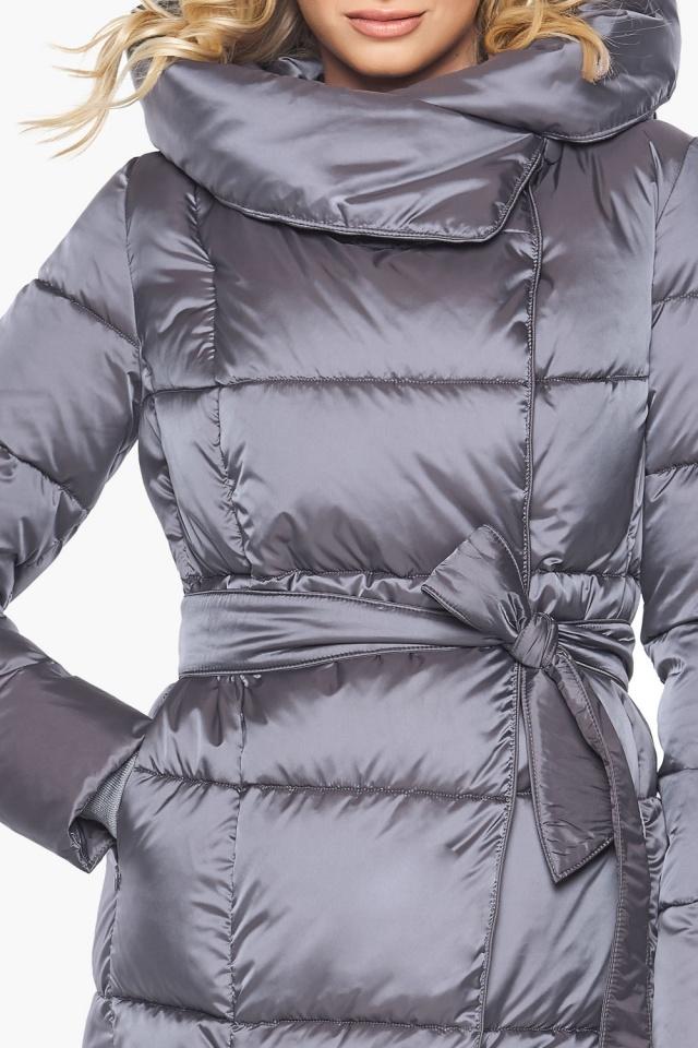 """Комфортная куртка жемчужно-серая женская модель 31056 Braggart """"Angel's Fluff"""" фото 8"""