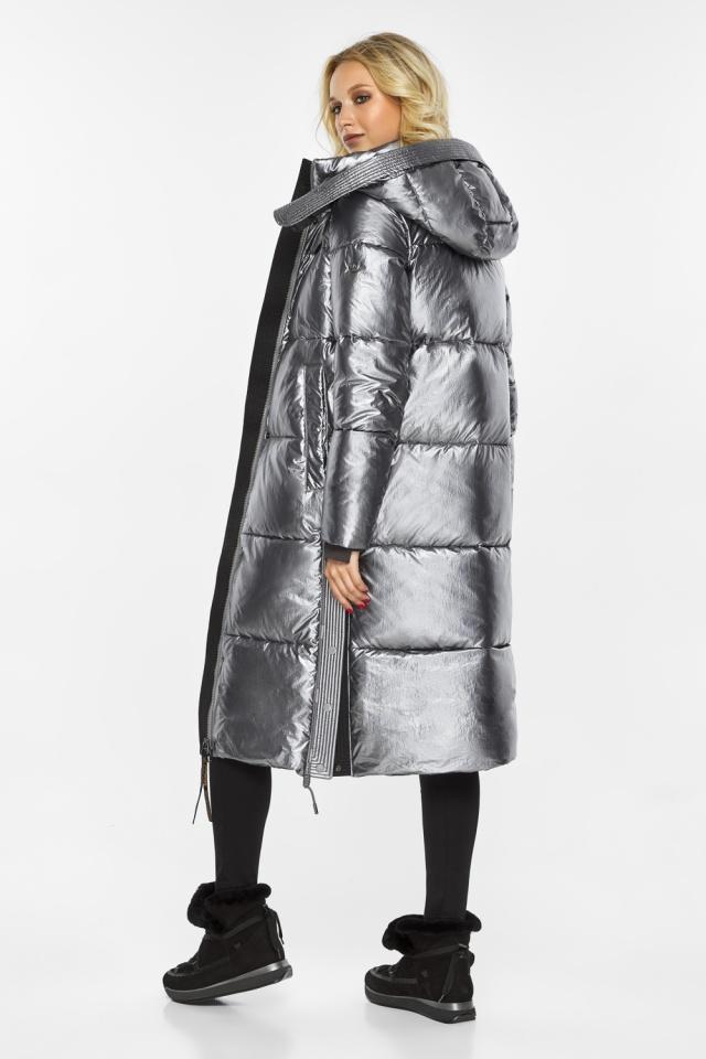 """Куртка с капюшоном женская цвет серебро модель 42650 Braggart """"Angel's Fluff"""" фото 6"""
