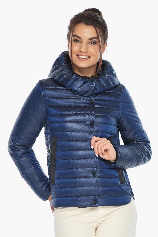 """Жіноча куртка сапфірова комфортна осінньо-весняна модель 64150 Braggart """"Angel's Fluff"""" фото 4"""