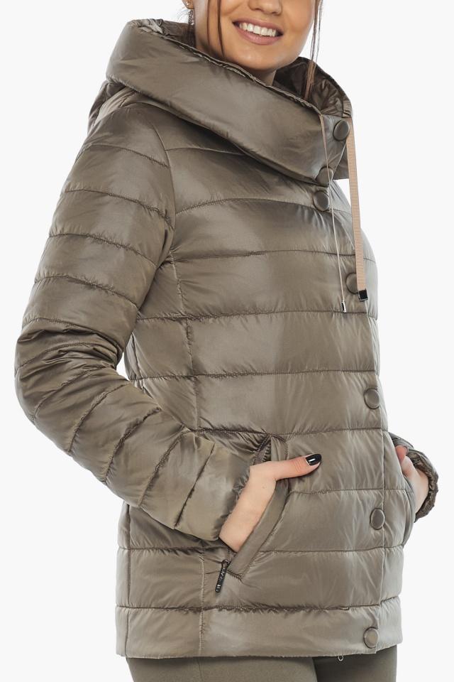 """Женская капучиновая куртка стильная осенне-весенняя модель 61030 Braggart """"Angel's Fluff"""" фото 9"""