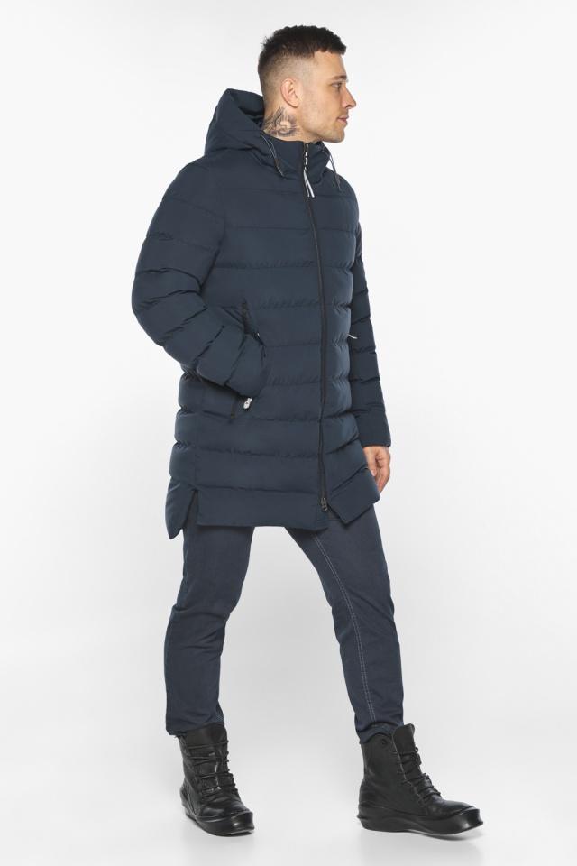 "Зимняя практичная куртка тёмно-синяя модель 49080 Braggart ""Aggressive"" фото 6"