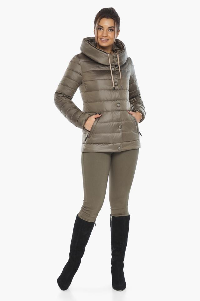 """Женская капучиновая куртка стильная осенне-весенняя модель 61030 Braggart """"Angel's Fluff"""" фото 5"""