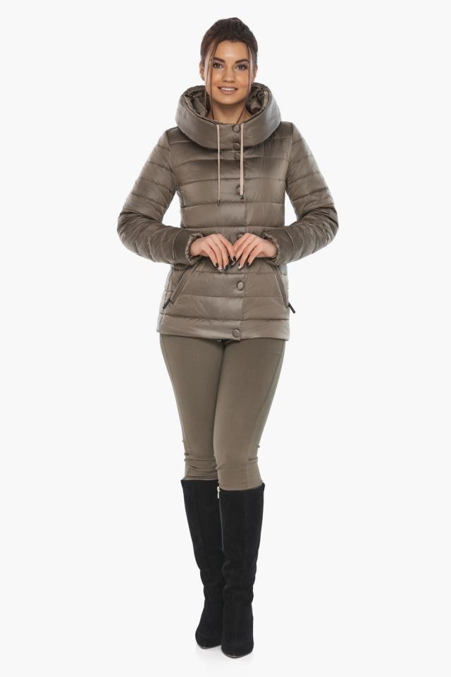 """Женская капучиновая куртка стильная осенне-весенняя модель 61030 Braggart """"Angel's Fluff"""" фото 2"""