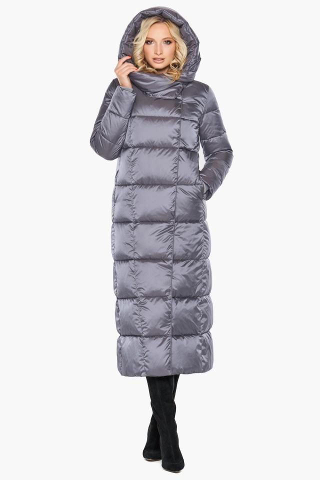 """Комфортная куртка жемчужно-серая женская модель 31056 Braggart """"Angel's Fluff"""" фото 5"""