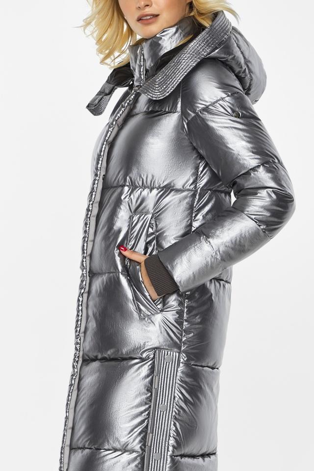 """Куртка с капюшоном женская цвет серебро модель 42650 Braggart """"Angel's Fluff"""" фото 7"""