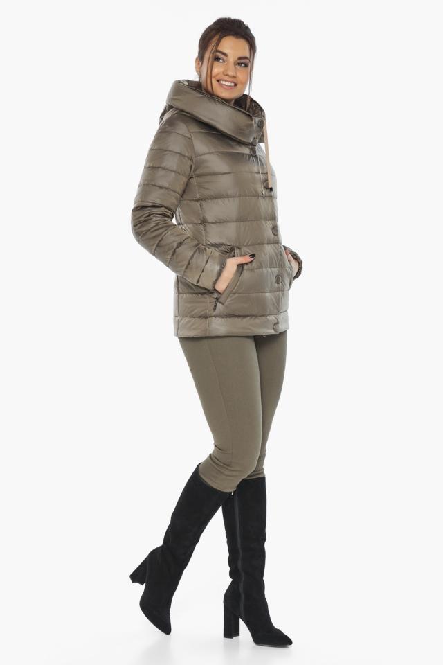 """Женская капучиновая куртка стильная осенне-весенняя модель 61030 Braggart """"Angel's Fluff"""" фото 7"""