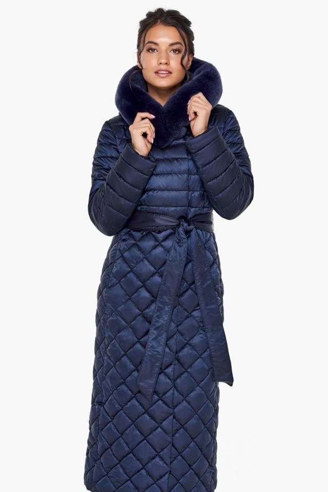 """Зимняя синяя куртка стильная женская модель 31012 Braggart """"Angel's Fluff"""" фото 5"""