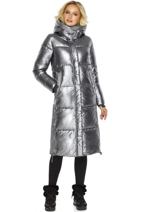 """Куртка з капюшоном жіноча колір срібло модель 42650 Braggart """"Angel's Fluff"""" фото 1"""