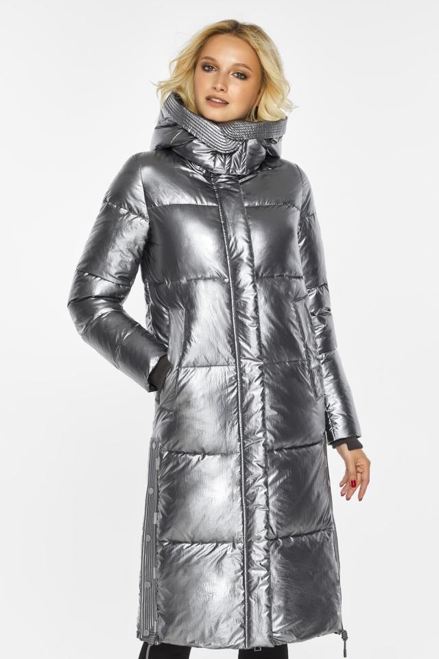 """Куртка с капюшоном женская цвет серебро модель 42650 Braggart """"Angel's Fluff"""" фото 4"""