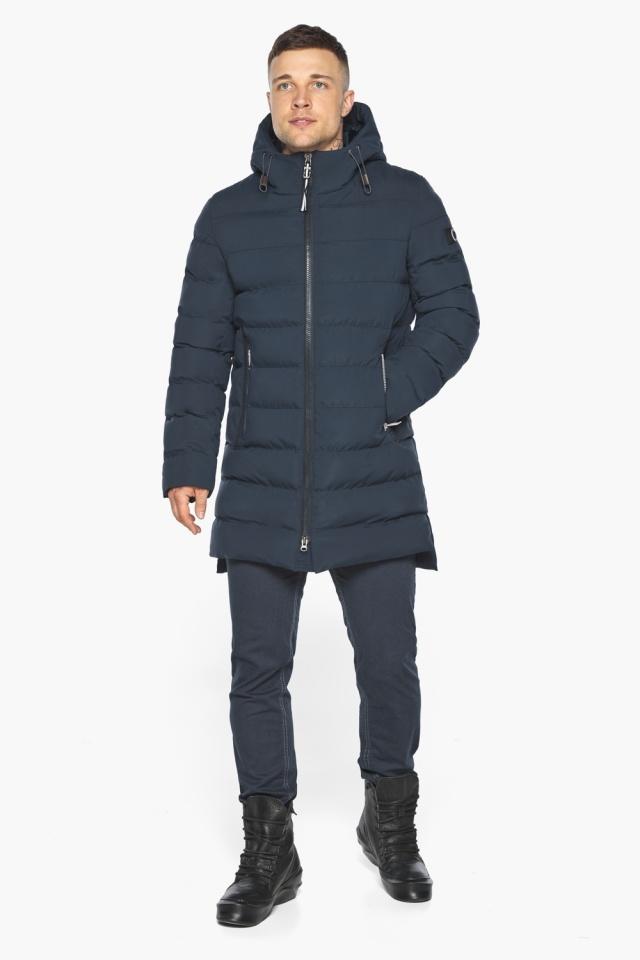 "Зимняя практичная куртка тёмно-синяя модель 49080 Braggart ""Aggressive"" фото 2"