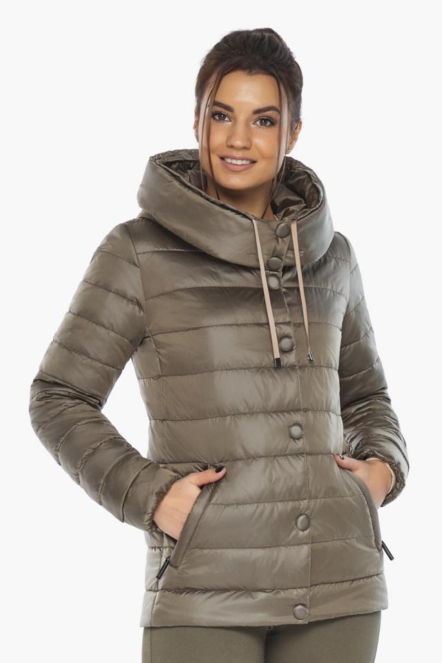 """Женская капучиновая куртка стильная осенне-весенняя модель 61030 Braggart """"Angel's Fluff"""" фото 3"""
