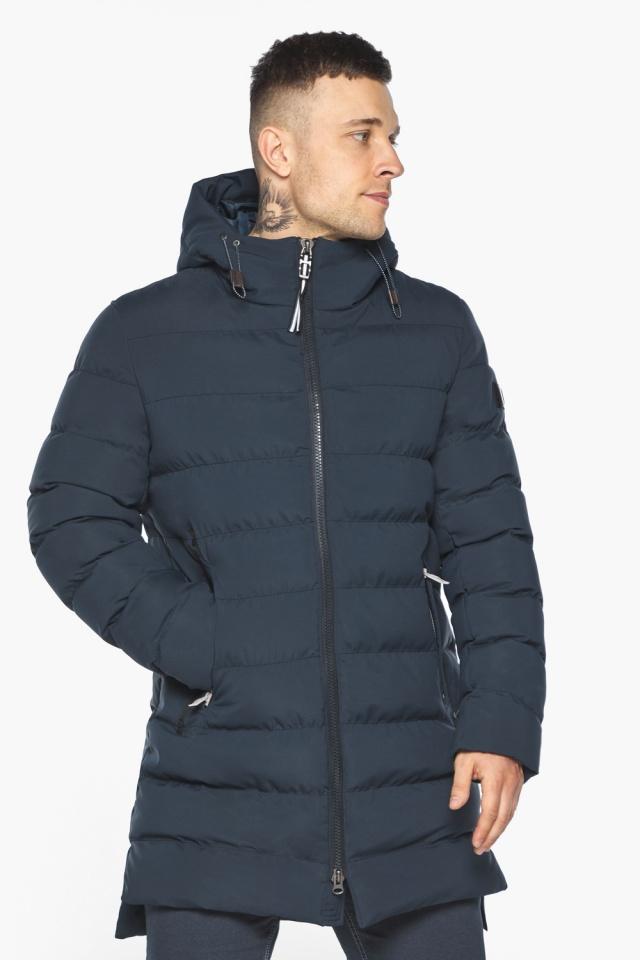 "Зимняя практичная куртка тёмно-синяя модель 49080 Braggart ""Aggressive"" фото 4"