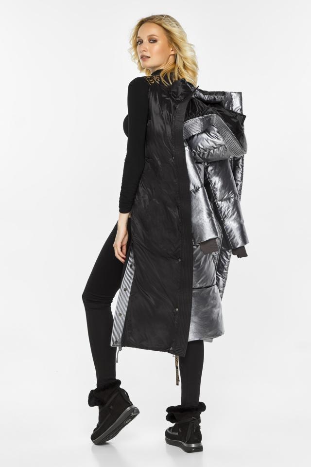 """Куртка с капюшоном женская цвет серебро модель 42650 Braggart """"Angel's Fluff"""" фото 3"""