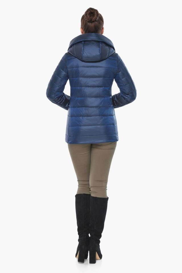"""Женская куртка модная весенняя цвет сапфировый модель 61030 Braggart """"Angel's Fluff"""" фото 8"""