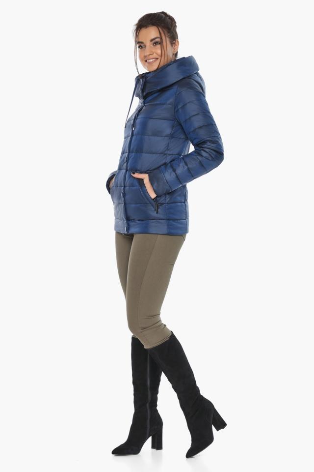 """Женская куртка модная весенняя цвет сапфировый модель 61030 Braggart """"Angel's Fluff"""" фото 5"""