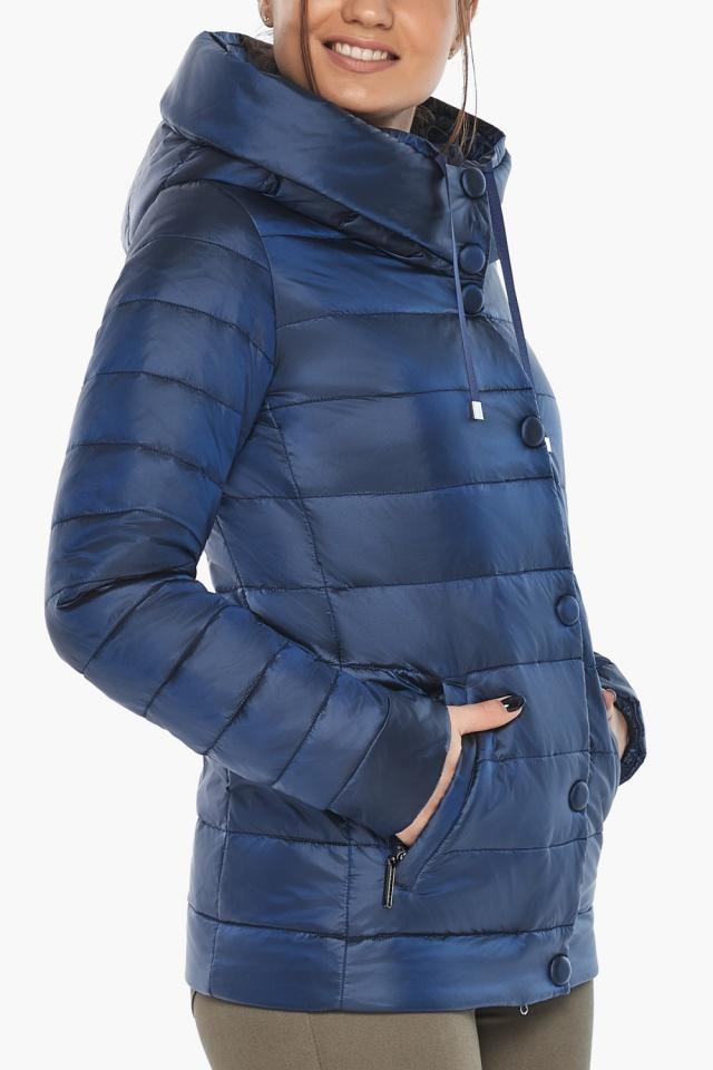 """Женская куртка модная весенняя цвет сапфировый модель 61030 Braggart """"Angel's Fluff"""" фото 9"""