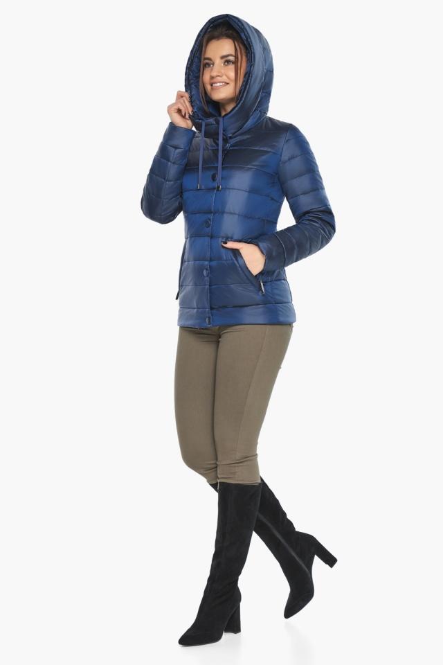 """Женская куртка модная весенняя цвет сапфировый модель 61030 Braggart """"Angel's Fluff"""" фото 7"""