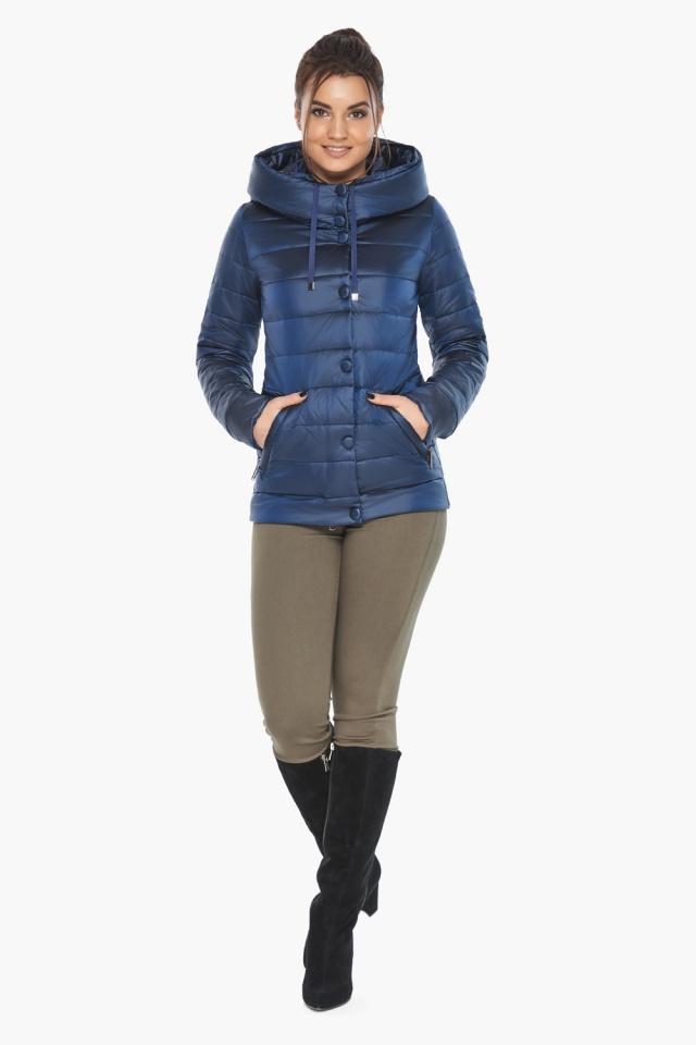 """Женская куртка модная весенняя цвет сапфировый модель 61030 Braggart """"Angel's Fluff"""" фото 2"""