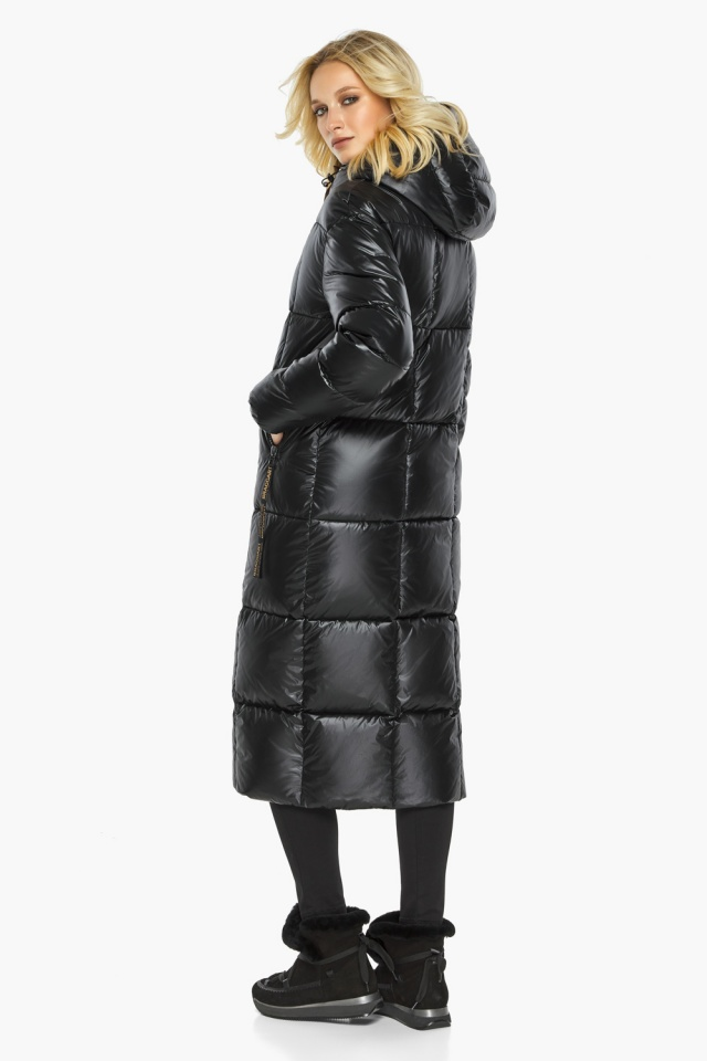 """Теплая куртка женская черная модель 42830 Braggart """"Angel's Fluff"""" фото 6"""